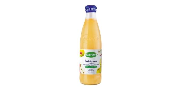 Nowość od Marwit! Świeży sok z jabłek i owoców pigwowca.