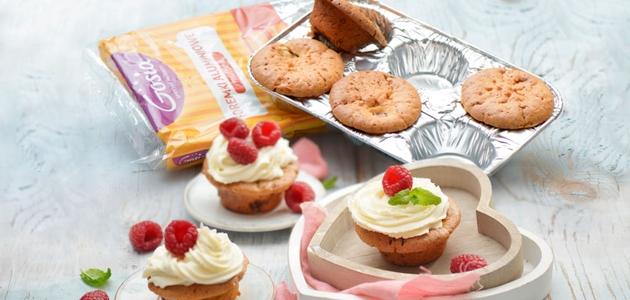 Walentynkowy patent dla dwojga - Muffiny z malinami i białą czekoladą