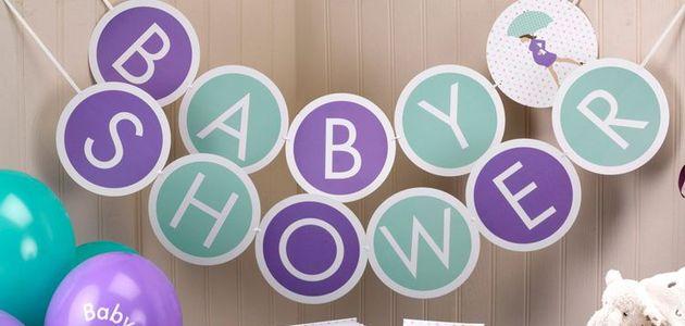 Dekoracje i dodatki na baby shower