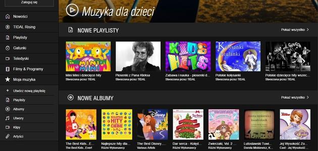 Ścieżka dźwiękowa i biblioteka multimedialna dla najmłodszych w TIDAL od Play