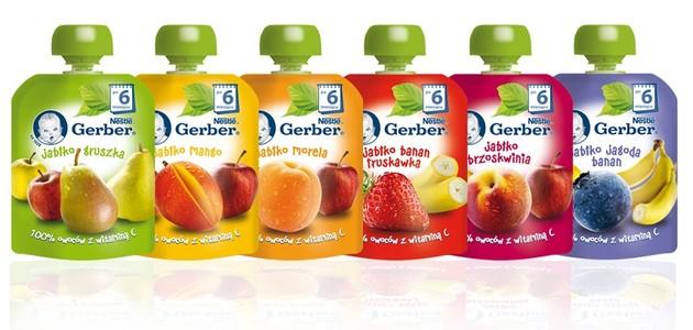 Poznaj owocowe desery w tubkach Gerber