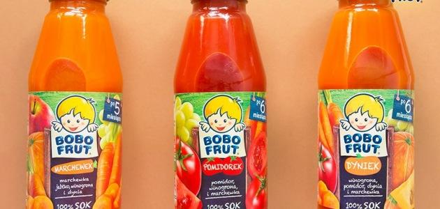 Warzywa i owoce w formie soku od Bobo Frut