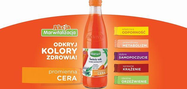 Kolory zdrowia Marwit. Pomarańczowy to promienna cera!